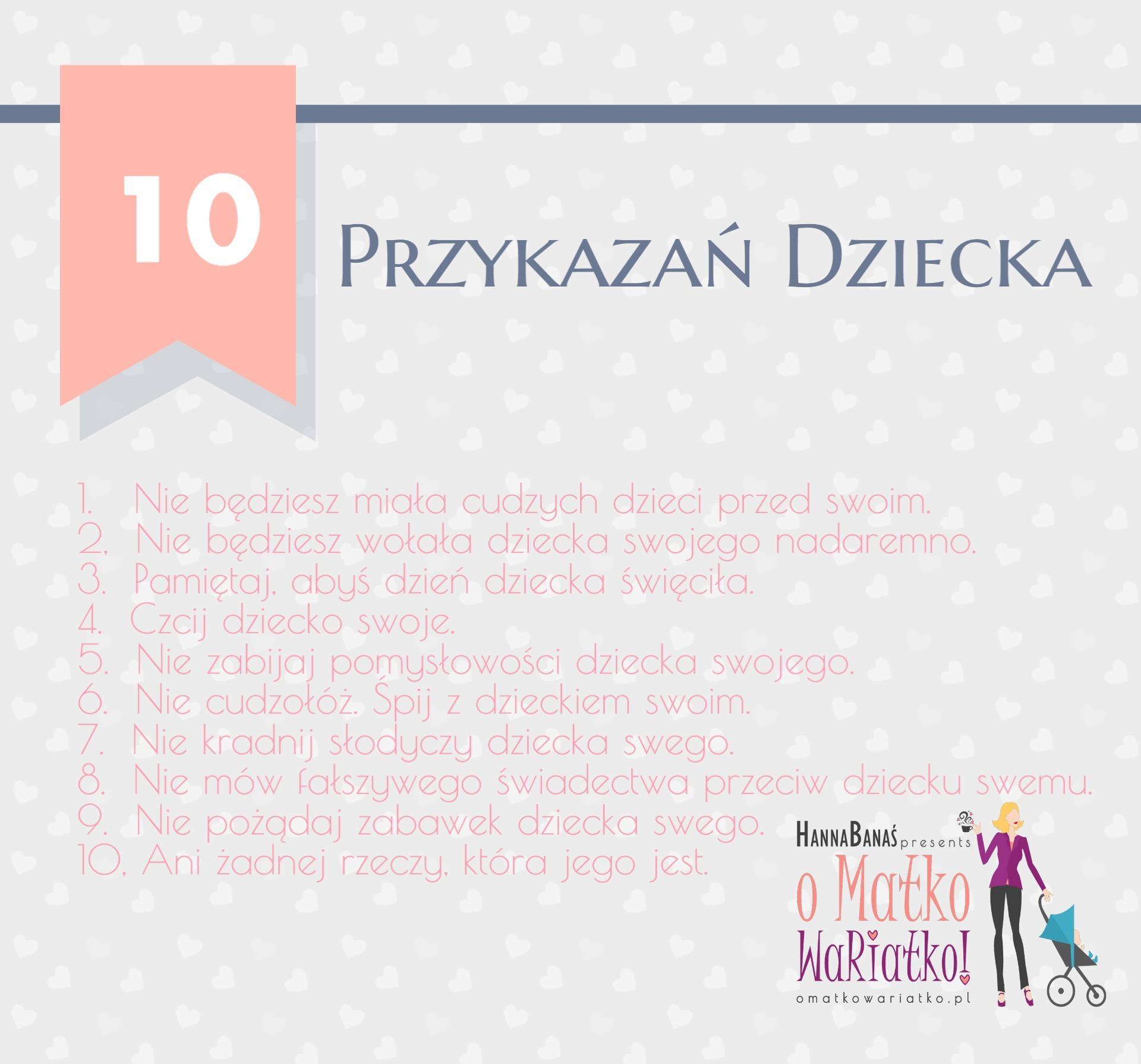 10 przykazań dziecka