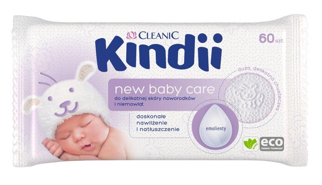 Kindii New Baby Care_chusteczki nawilżane do delikatnej skóry noworodków i niemowląt