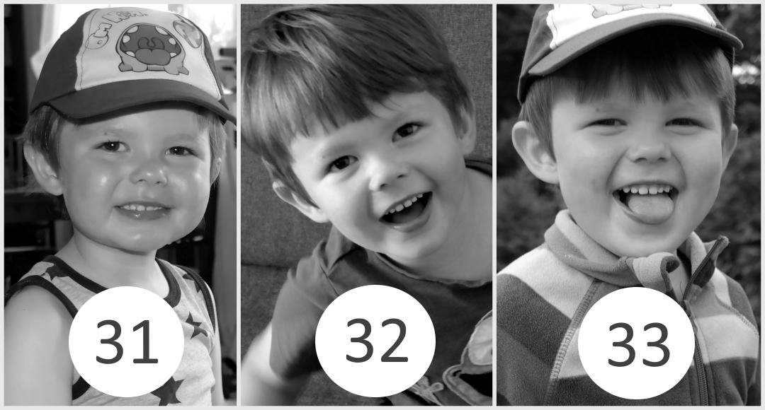 31 – 33 miesiąc życia dziecka.